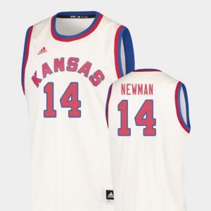 Cream Hardwood Classics #14 College Basketball For Men's Malik Newman KU Jersey 883539-606