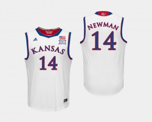 Malik Newman KU Jersey #14 For Men College Basketball White 257137-710