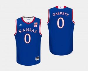 Marcus Garrett KU Jersey #0 For Men Royal College Basketball 293785-533