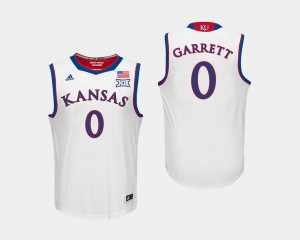 College Basketball #0 Men Marcus Garrett KU Jersey White 177070-854