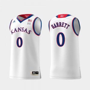White #0 Replica Mens Swingman College Basketball Marcus Garrett KU Jersey 887110-393