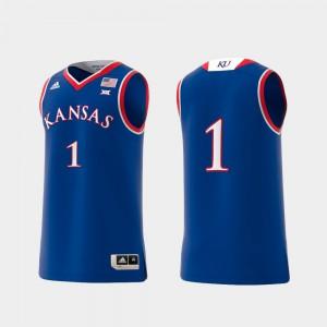 For Men's Basketball Swingman #1 Royal KU Jersey College Replica 133441-397