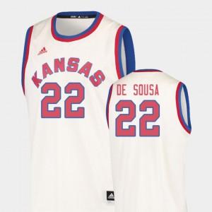 Cream Hardwood Classics College Basketball Men #22 Silvio De Sousa KU Jersey 883458-715