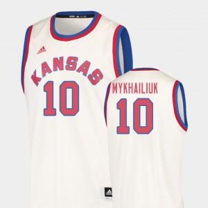 Cream Mens College Basketball Sviatoslav Mykhailiuk KU Jersey #10 Hardwood Classics 495584-200