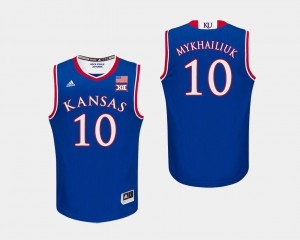 College Basketball Royal #10 Sviatoslav Mykhailiuk KU Jersey Men's 144051-904