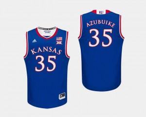 College Basketball Royal #35 Udoka Azubuike KU Jersey Mens 458069-670
