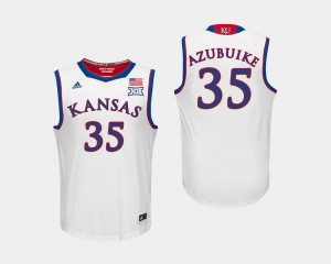 Udoka Azubuike KU Jersey College Basketball Mens White #35 684074-221