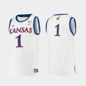 College Basketball Replica KU Jersey Mens White #1 180682-742