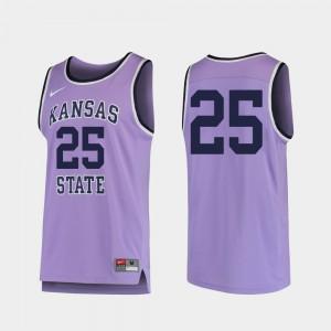 Replica KSU Jersey College Basketball Men #25 Purple 561650-846