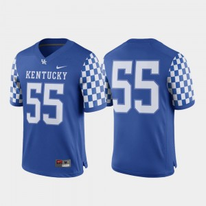 College Football UK Jersey For Men's Royal Game #55 682748-575
