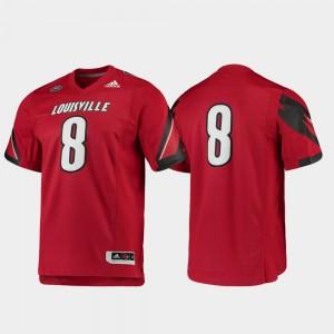 Red Louisville Jersey #8 Premier Football For Men's 382393-844