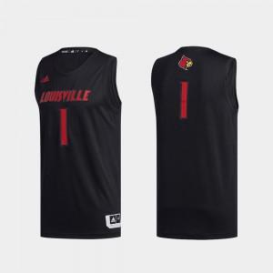 Swingman Basketball Black For Men's Basketball Swingman #1 Louisville Jersey 541062-918