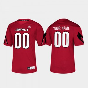 Red Louisville Custom Jerseys College Football Men's #00 318511-877