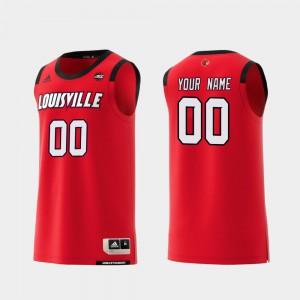 Louisville Custom Jersey Replica College Basketball #00 Men Red 467595-850