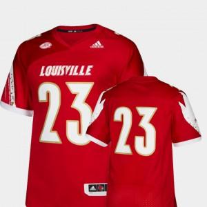 Men College Football Red Louisville Jersey Premier #23 700906-446