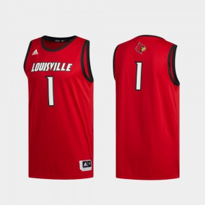 #1 Men's Basketball Swingman Red Swingman Basketball Louisville Jersey 530059-405