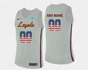 Basketball US Flag Fashion Mens Loyola Custom Jerseys White #00 242826-776