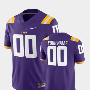 Purple #00 2018 Game LSU Custom Jersey College Football Mens 366895-631