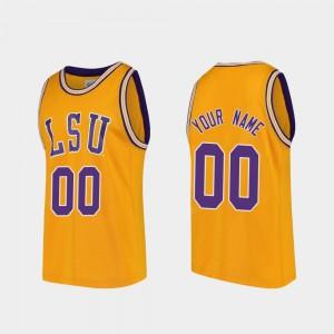 Gold Replica #00 LSU Customized Jerseys College Basketball Mens 897111-238