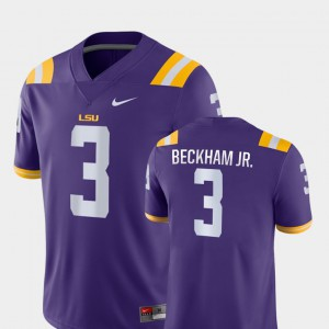 College Football Game Odell Beckham Jr LSU Jersey Purple #3 For Men's 852429-802