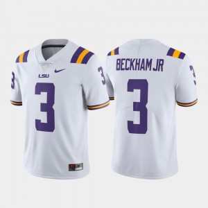 Alumni Football Odell Beckham Jr LSU Jersey Limited White Mens #3 865788-549