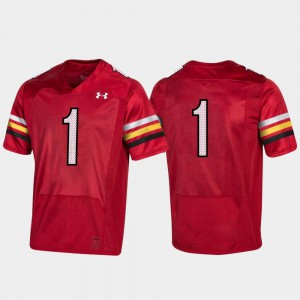 #1 150th Anniversary Maryland Jersey College Football Replica For Men Red 168024-471