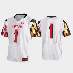 Maryland Jersey Premier White #1 Football For Men 926815-633