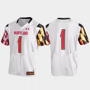 #1 Maryland Jersey Replica Men White 676793-654