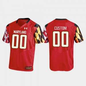 Maryland Customized Jerseys Red Replica #00 College Football For Men's 604322-643