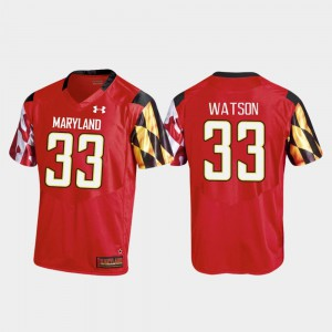 College Football Red Tre Watson Maryland Jersey #33 Replica For Men's 365616-882