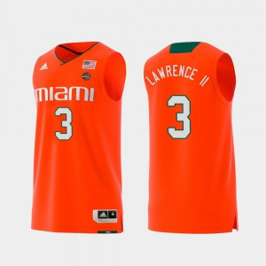 #3 Replica Orange Swingman College Basketball Men's Anthony Lawrence II Miami Jersey 150227-205