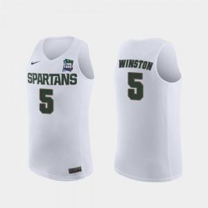 Men White Cassius Winston MSU Jersey 2019 Final-Four Replica #5 184727-940
