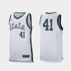 Retro Performance Conner George MSU Jersey #41 Mens White College Basketball 978532-982