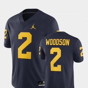 Navy #2 2018 Men's Alumni Football Game Charles Woodson Michigan Jersey 448163-768