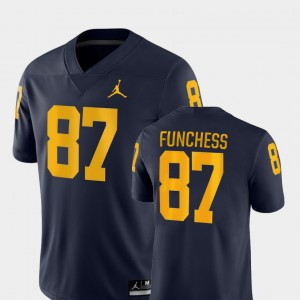 Devin Funchess Michigan Jersey #87 College Football For Men's Game Navy 238282-901