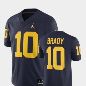 #10 Tom Brady Michigan Jersey Men 2018 Alumni Football Game Navy 763984-404