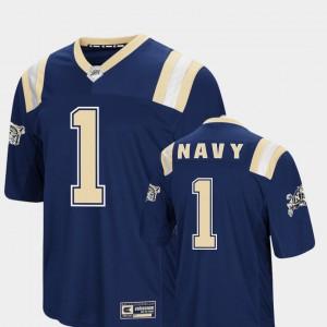 Navy Colosseum Navy Jersey Foos-Ball Football #1 Men 812499-978