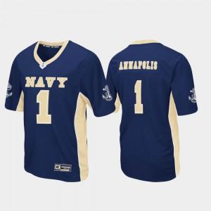 Navy Navy Jersey For Men Max Power Football #1 682051-308
