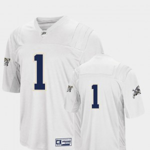 For Men Colosseum White #1 College Football Navy Jersey 600968-577