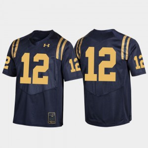 Navy Jersey Mens Rivalry #12 Navy Game 620573-422