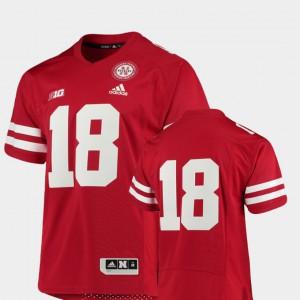 Premier Scarlet Nebraska Jersey #18 College Football For Men 971148-579