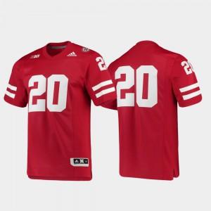Nebraska Jersey Football Scarlet #20 Premier Men's 463690-709