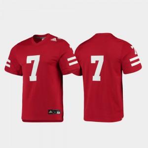 Replica College Football #7 Nebraska Jersey For Men Scarlet 761328-397