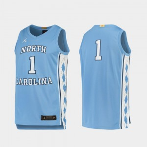 UNC Jersey For Men College Basketball Limited Carolina Blue #1 810433-944