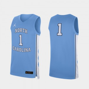 College Basketball Men's Replica Carolina Blue UNC Jersey #1 493851-682