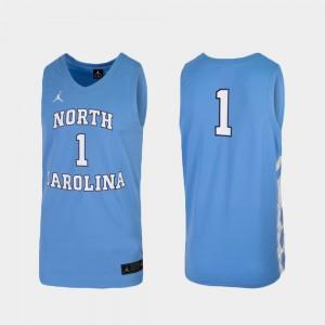 Replica College Basketball Carolina Blue #1 UNC Jersey For Men 857191-856