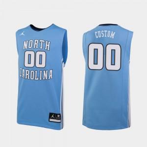 #00 UNC Customized Jerseys Replica College Basketball Men's Carolina Blue 509475-956