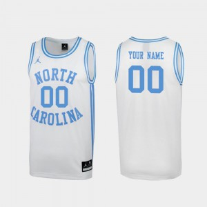 Mens March Madness UNC Custom Jersey #00 Special College Basketball White 607735-616