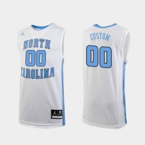 #00 White Replica UNC Customized Jerseys College Basketball Men 401957-895