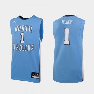 Replica Men's Leaky Black UNC Jersey College Basketball Carolina Blue #1 408143-766
